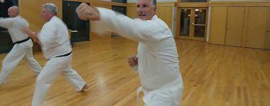 Jiyu kumite practice